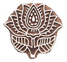 Indian Wood Stamps Lotus Printing Block Hand carved Stamp Decorative Blocks
