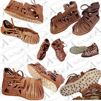 Medieval Roman Leather Sandal Caligae Light Brown Color Size 10 gift for Men Boy