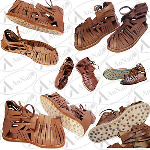 Medieval Roman Sandal Calligue Legionnaire Leather Sandals Gladiator Sandal