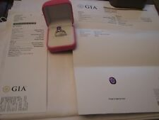 Platinum Diamond Natural Pink Sapphire GIA Ring Certified  $11400 3.11 TCW