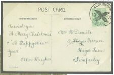 L132 Great Britain Cover 1907 Altrincham Posted Advance Christmas/Timperley RP