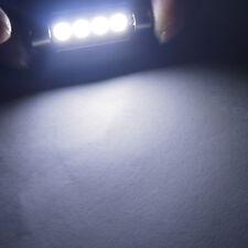 2x 41mm 4 SMD 5050 CANBUS LED Car alarm Light Dome Lamp 12V Bulb Waterproof vhk