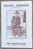 """William Burroughs Exhibition Catalog/""""Booklet"""" Accordion Format."""