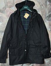 Barbour Jacket Coat One Bell Waxed Black MWX106BK91 New Extra Large XL UK