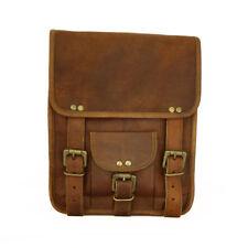 Men's Satchel Real Vintage Leather Long Messenger HandBag Laptop Briefcase Bag