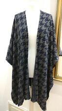 JIGSAW Wool Blend Houndstooth Poncho Cape Kimono