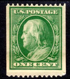 Sc# 348 1 Cent Benjamin Franklin (1908) MH VF Single SCV $40.00  Read