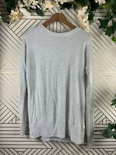 ATHLETA Light Gray Sweater Open Back Long Sleeve Size Small Flaw