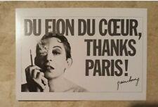 carte postale Serge Gainsbourg