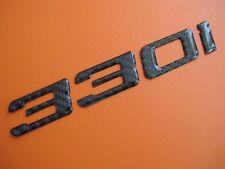 Real Carbon Fiber Trunk Letters Emblem Badge for BMW 330i E46 E90
