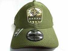 New Era NFL New Orleans Saints Black 2019 Salute to Service 3930 Stretch Fit Cap