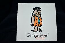 Hanna Barbera Animation Art Etching 1996 Fred Flintstone 8X8