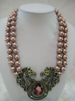 "HEIDI DAUS ""Off To The Races"" Double Horse Beaded Necklace (Orig.$279.95)"