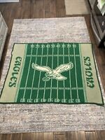 VINTAGE NFL PHILADELPHIA EAGLES BLANKET OLD LOGO 56x43 inches.