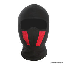 360 Sound And Vision Black & Red Balaclava (Motorsport, Cycling, Outdoors)