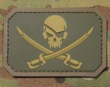 PVC PIRATE SKULL & SWORDS 3D PVC FLAG US USA ARMY MULTICAM VELCRO® BRAND PATCH