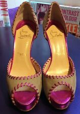 Christian Louboutin Peep Toes Suede Shoes for Women