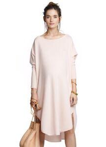 HATCH COLLECTION Pregnancy Maternity Pink Cashmere Drape Dress Jumper £400