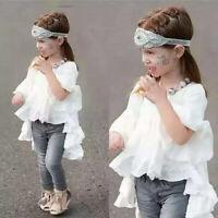 Toddler Kids Baby Girls Outfits Summer Princess Clothes T-shirt Tops Dress Skirt