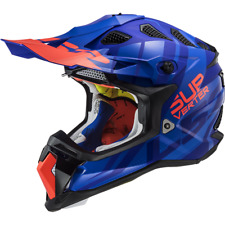 LS2 MX470 SUBVERTER TROOP MATT BLUE OFF ROAD MOTOCROSS MOTORCYCLE QUAD HELMET