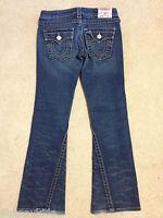 EUC EXC Juniors Womens True Religion JOEY Flap Pocket Stretch Denim Jeans 25