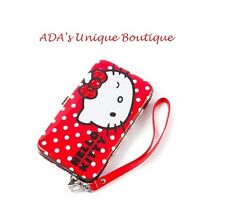 Hello Kitty Sanrio Glitter Polka Dot Smartphone Tech Case Wristlet iPhone Cell