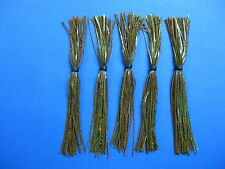 5 Silicone Skirt Pumpkin Green glitter 5-63 spinner bait bass lure blade fishing
