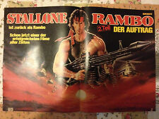 SYLVESTER STALLONE RAMBO / JAMES DEAN - DOUBLE-SIDED POSTER FROM BRAVO MAGAZINE