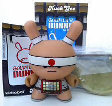 """DUNNY 3"""" GOLD LIFE SERIES HUCK GEE 1/16 THE COURAGEOUS SPEAR BOY 2011 KIDROBOT"""