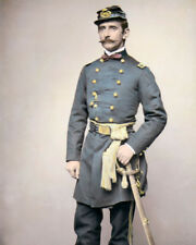 """PRINCE of PRUSSIA FELIX SALM-SALM CIVIL WAR 8x10"""" HAND COLOR TINTED PHOTOGRAPH"""