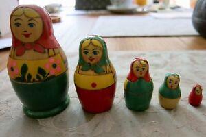 Matrioschka , Russische Puppe-in-der-Puppe, 5-teilig