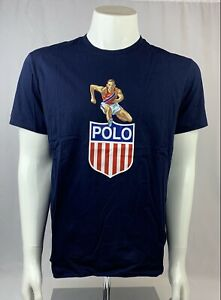 Polo Ralph Lauren Japan Olympics USA Graphic Navy Blue T-Shirt Size Medium