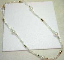 Chico's Aster Double Pearl Necklace NWT