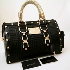 AUTHETIC GIANNI VERSACE HAND BAG BLACK WITH GOLD -SNAP IT OUT