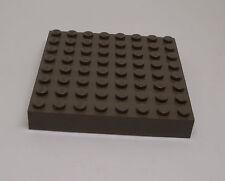 Lego Basisplatte Grundplatte 8 x 8 dunkelgrau dick 6,5 x 6,5 cm Quadrat Viereck