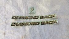 DIAMOND BACK GOLD BLACK DECALS BMX BICYCLE RACING STICKERS RARE