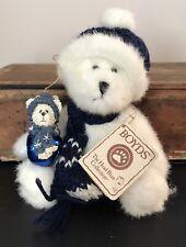 Boyds Bears Plush Head Bean Bear Bundles and Blue Bell Holiday Bear Ornament