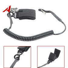 Tactical Airsoft Pistol Lanyard Sling Hand Gun Elastic Secure Spring w/ Belts