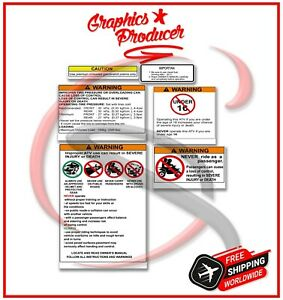 Yamaha Banshee 350 Twin Warning Symbols Decals Stickers Design For OEM Fenders