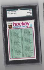 1975-76 Topps Checklist Card #267 SGC 92 near mint to mint+
