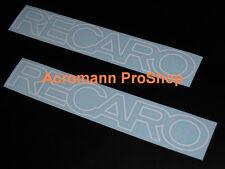"2x 8.5"" 21.6cm RECARO decal sticker Mitsubishi Evolution MR EVO V X Lancer vinyl"