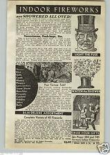 1940 PAPER AD Indoor Outdoor Fireworks Small Toys Shower Lachpillen Onkel