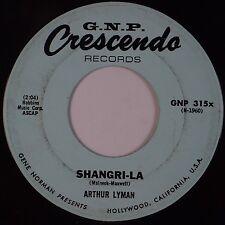 ARTHUR LYMAN: Shangri-La / Pearly Shells CRESCENDO Exotica 45 Hear