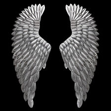 Antique Silver Angel Wings Iron Wall Mounted Hanging Retro Home Decor Large us