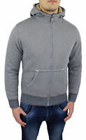 PULL SWEAT HOMMES SLIM FIT CARDIGAN GILET GRIS NEUF taille S M L XL XXL