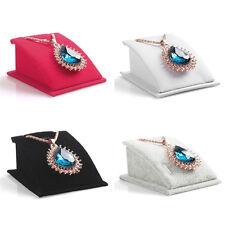 Velvet Pendant Necklace Chain Jewelry Display Stand Holder Organizer Show Rack
