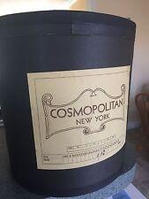 Rare Antique 1930s 40s Advertising Hat Box Cosmopolitan NY New York City Sign Lg