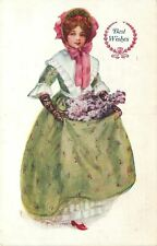 Alice Mar~Pretty Southern Belle~Lime Dress~Red Bonnet & Shoes~Best Wishes Girl
