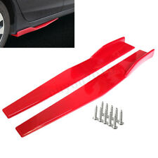 2x Universal Car Red Side Skirt Rocker Splitters Winglet Wings Canard Diffuser