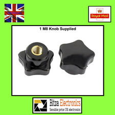 Plastic M8 Female Thread Star Shaped Head Clamping Nuts Knob - UK Seller